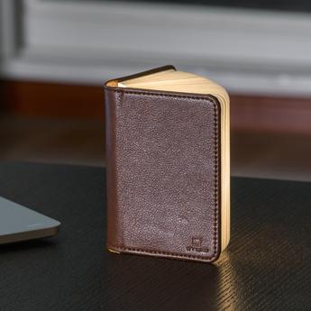 Baladeuse smart book mini marron l9cm h12 2cm gingko 0703556205089 normal