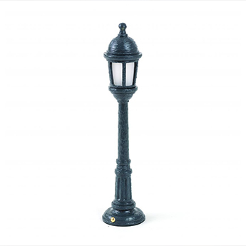 Baladeuse street lamp dining gris led 3000k 55lm o9 8cm h42cm seletti normal