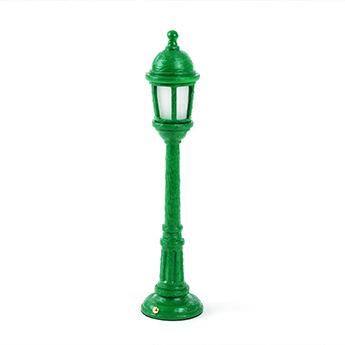 Baladeuse street lamp dining vert led 3000k 55lm o9 8cm h42cm seletti normal