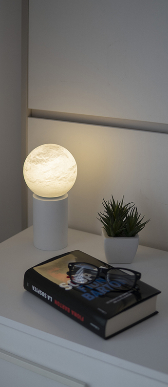 Baladeuse tribeca usb blanc ip45 led 3000k 150lm l12cm h24cm alma light normal