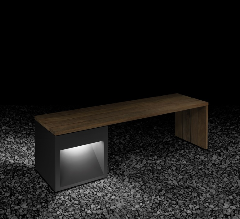 Lap bench david abad b lux lap bench 45 2a led grey luminaire lighting design signed 18967 product