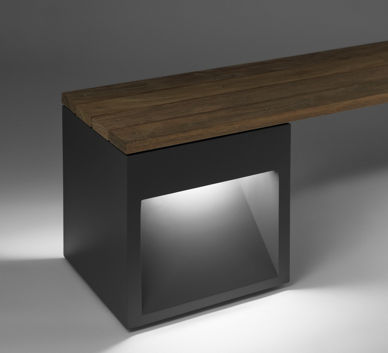 Lap bench david abad b lux lap bench 45 2a led grey luminaire lighting design signed 18968 product