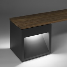 Lap bench david abad b lux lap bench 45 2a led grey luminaire lighting design signed 18968 thumb