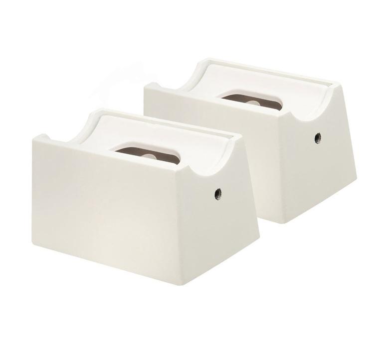 Base applique tube blanc l7cm h4cm l4 6cm zangra 62748 product