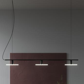 Base pour lustre lustre linear base noir mat l142 5cm h20cm beem normal