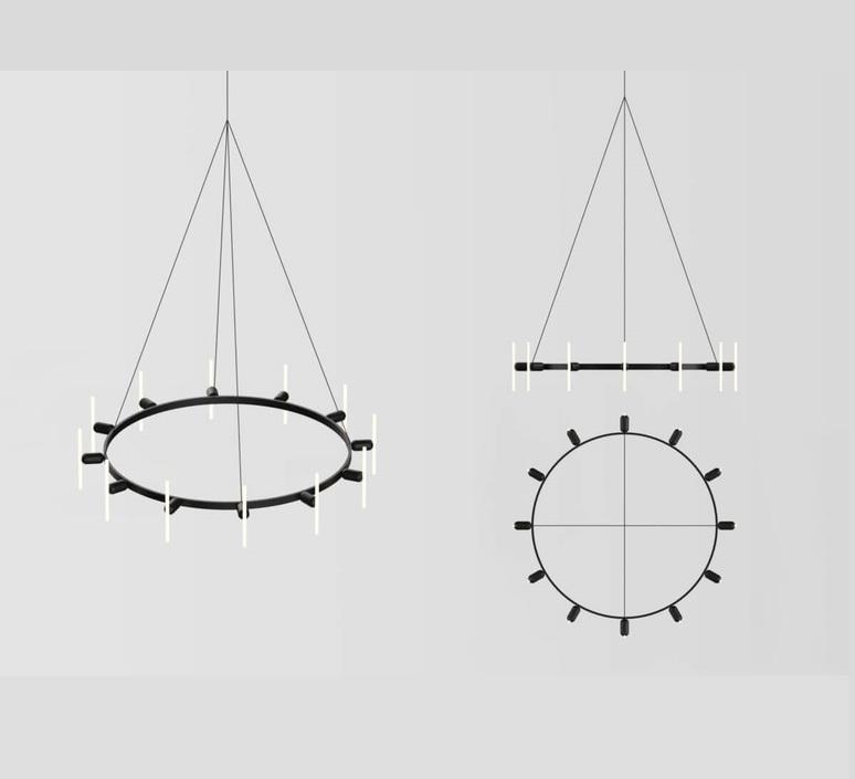 Lustre rond base samuel wilkinson base pour lustre base for chandelier  beem base lustre rond  design signed nedgis 83243 product