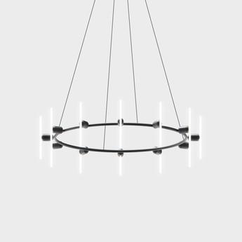 Base pour lustre lustre rond base noir mat o70cm h130cm beem normal