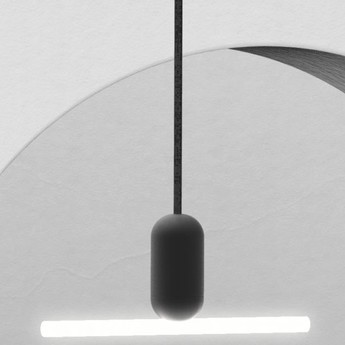 Base pour suspension pendant base noir mat l4 1cm h7cm beem normal