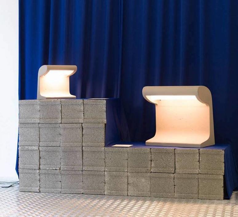 Borne beton charles le corbusier borne landscape light  nemo lighting bbg ldw 22  design signed 58100 product