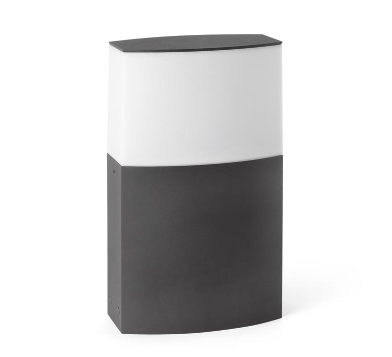 borne d 39 ext rieur datna gris anthracite et diffuseur blanc h30cm faro luminaires nedgis. Black Bedroom Furniture Sets. Home Design Ideas
