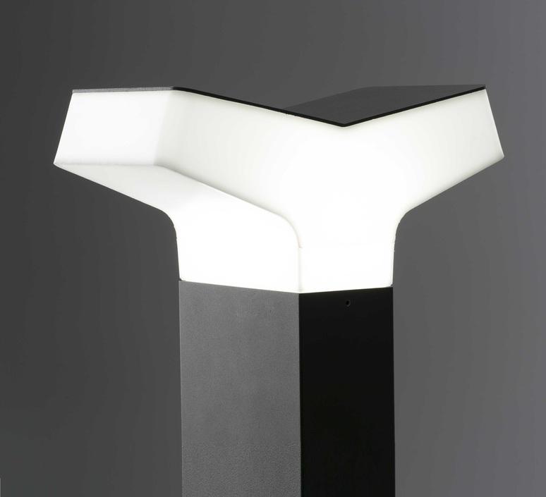 Borne d 39 ext rieur tau noir et blanc h40cm faro for Luminaire exterieur blanc