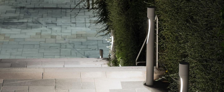 Borne flindt garden aluminium ip65 led 3000k 578lm o11 5cm h80cm louis poulsen normal