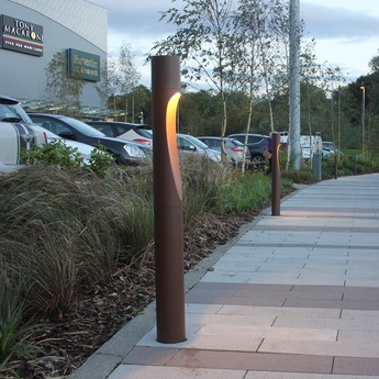 Borne flindt garden corten ip65 led 3000k 578lm o11 5cm h110cm louis poulsen normal