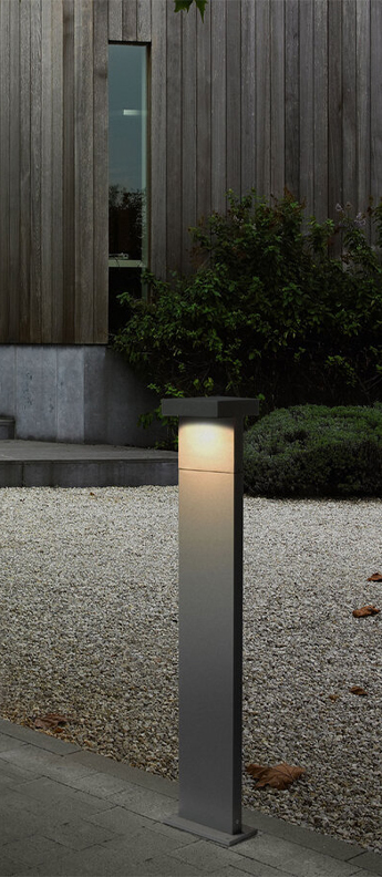 Borne palos 2 0 gris fonce ip65 led 3000k 2x520lm o13cm h100cm wever ducre normal