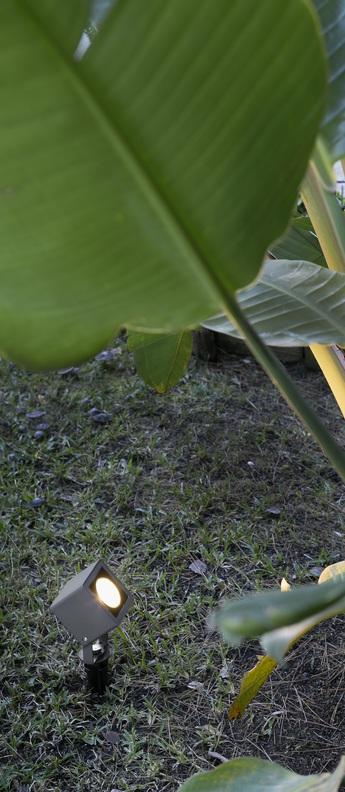 Borne sobek noir led l8cm h33cm faro normal