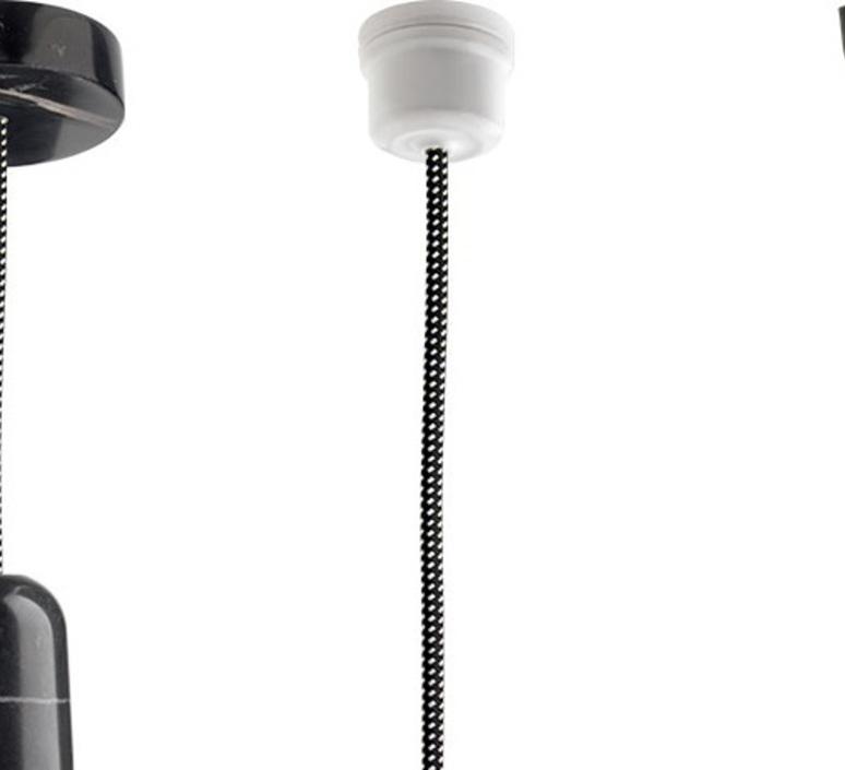 Cable electrique 3 conducteurs textile tresse noir tachete blanc1m zangra textilecable 062 002 54175 product