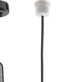 Cable electrique 3 conducteurs textile tresse noir tachete blanc1m zangra textilecable 062 002 normal