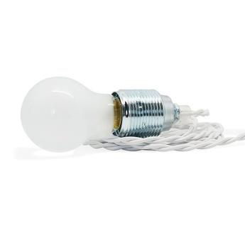Cable electrique textile stresse blanc 1m de long zangra normal