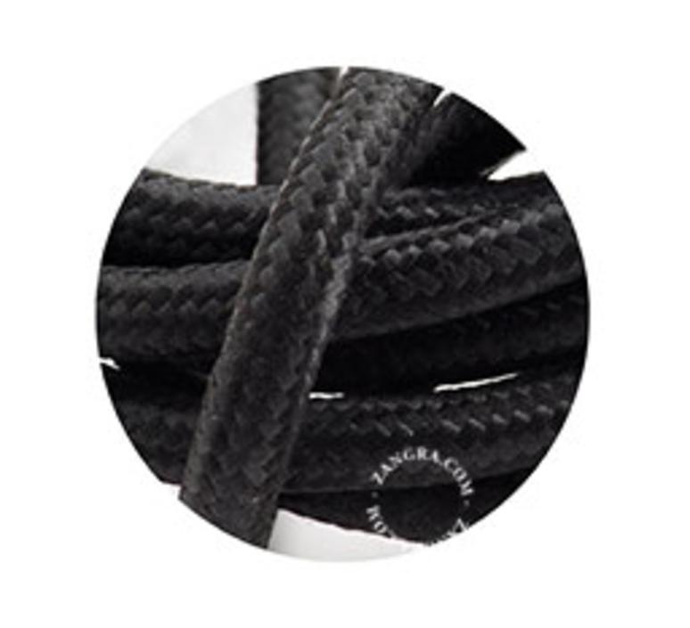 Cable textile noir 3 conducteurs epaisseur 1 5cm longueur 1m zangra 51356 product