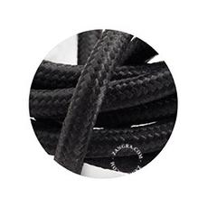 Cable textile noir 3 conducteurs epaisseur 1 5cm longueur 1m zangra 51356 thumb
