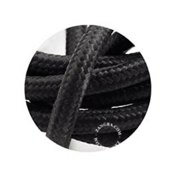 Cable textile noir 3 conducteurs epaisseur 1 5cm longueur 1m zangra normal