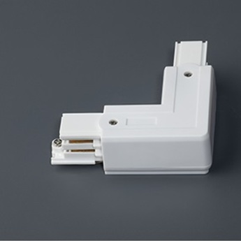 Connecteur angle gauche blanc faro normal