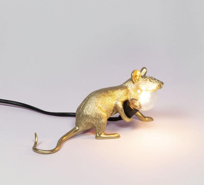 Mouse lie down marcantonio raimondi malerba lampe a poser table lamp  seletti 14943 gld  design signed nedgis 97843 product