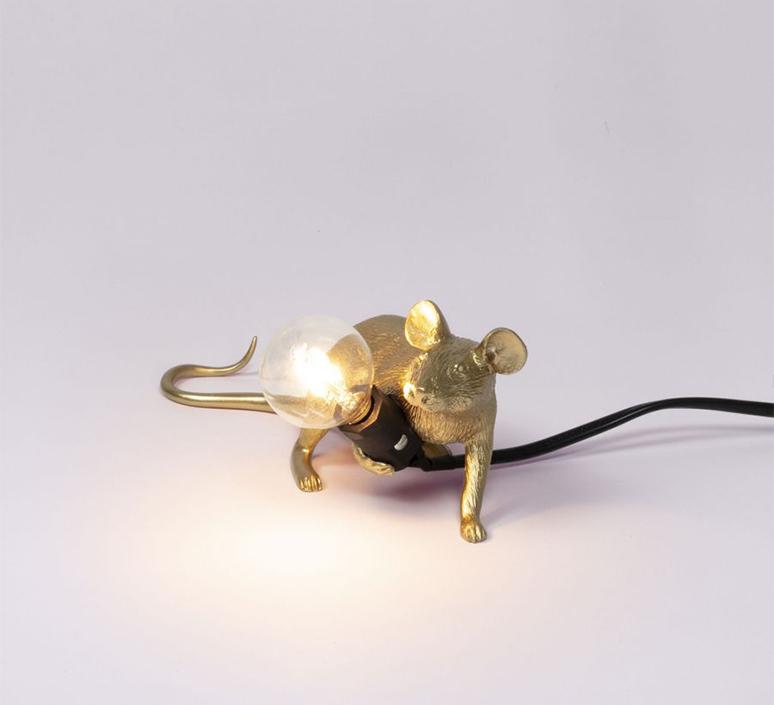 Mouse lie down marcantonio raimondi malerba lampe a poser table lamp  seletti 14943 gld  design signed nedgis 97844 product