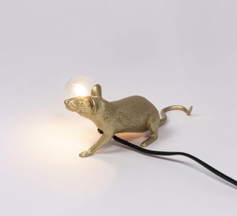 Mouse lie down marcantonio raimondi malerba lampe a poser table lamp  seletti 14943 gld  design signed nedgis 97845 product