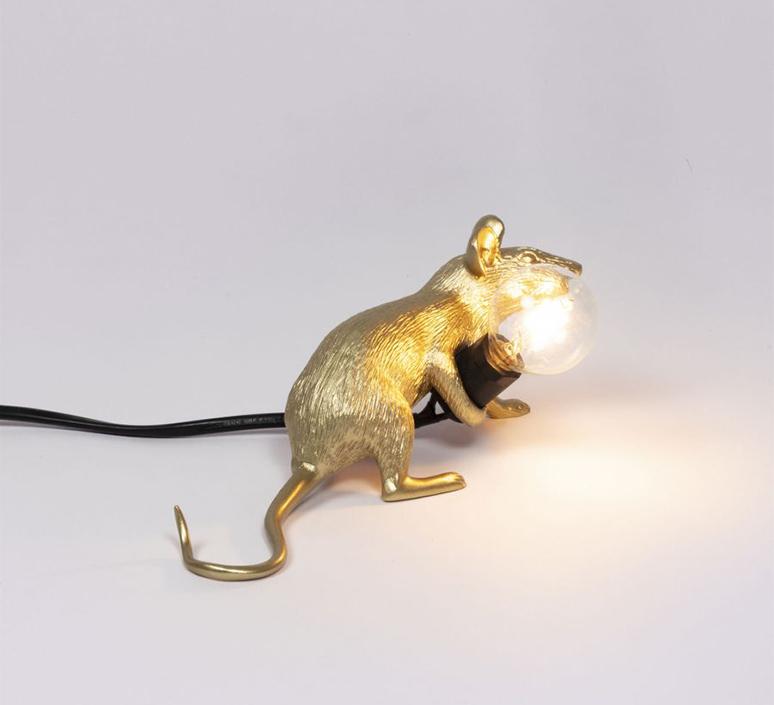 Mouse lie down marcantonio raimondi malerba lampe a poser table lamp  seletti 14943 gld  design signed nedgis 97846 product