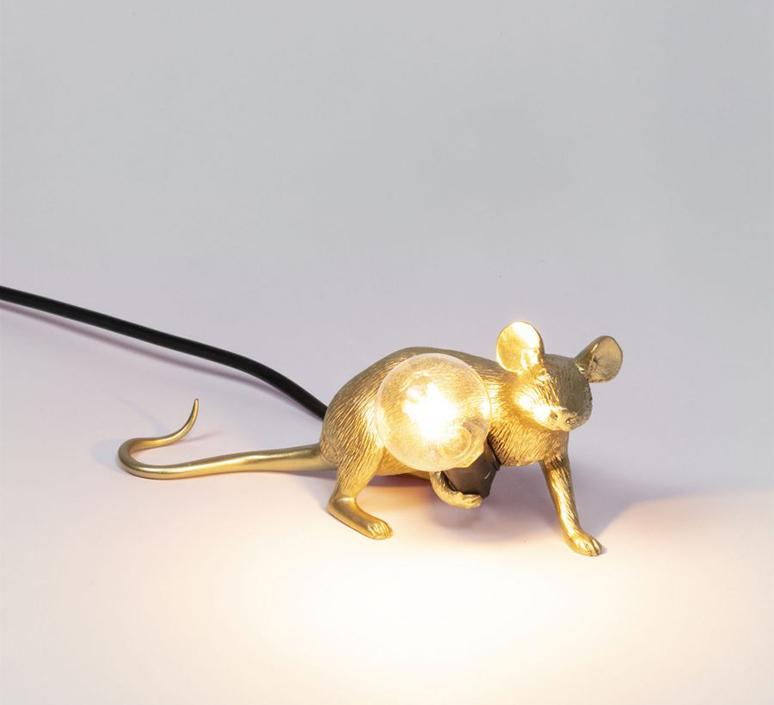 Mouse lie down marcantonio raimondi malerba lampe a poser table lamp  seletti 14943 gld  design signed nedgis 97847 product