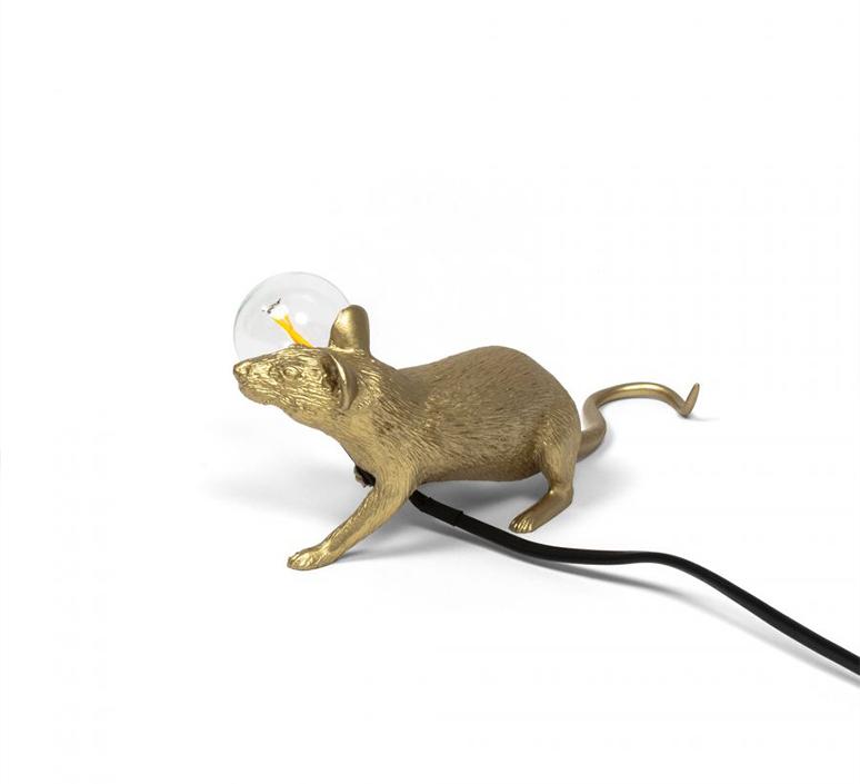 Mouse lie down marcantonio raimondi malerba lampe a poser table lamp  seletti 14943 gld  design signed nedgis 97849 product