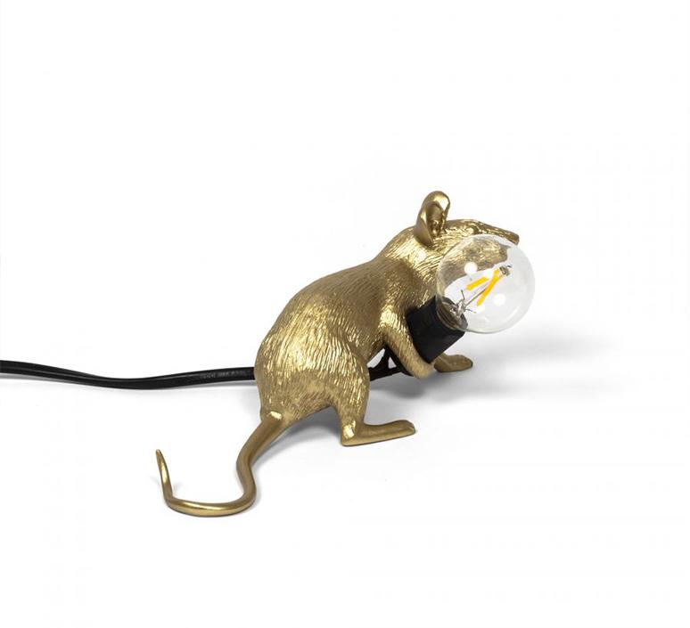 Mouse lie down marcantonio raimondi malerba lampe a poser table lamp  seletti 14943 gld  design signed nedgis 97850 product