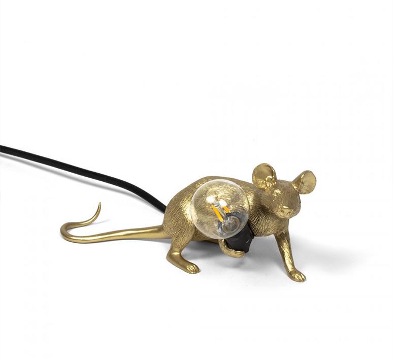 Mouse lie down marcantonio raimondi malerba lampe a poser table lamp  seletti 14943 gld  design signed nedgis 97851 product