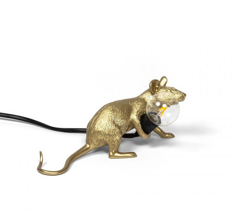 Mouse lie down marcantonio raimondi malerba lampe a poser table lamp  seletti 14943 gld  design signed nedgis 97852 product