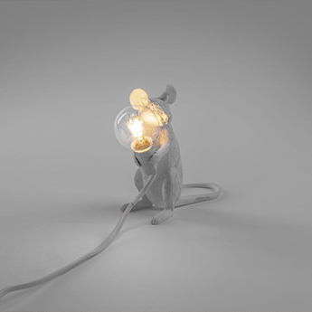 Copy of lampe a poser mouse souris assise blanc h54cm seletti normal