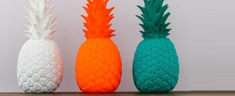 Copy of lampe ananas pina colada blanc h32cm goodnight light normal