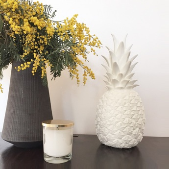 Copy of lampe ananas pina colada blanc h32cm goodnight light normal