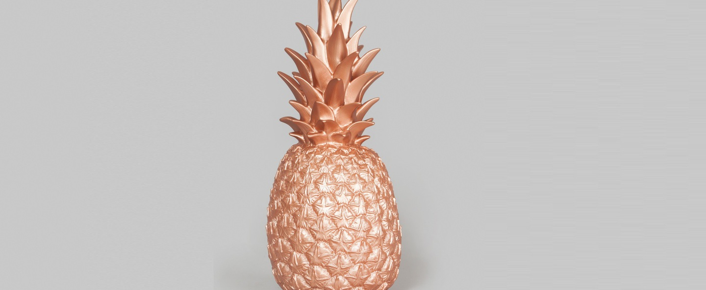 Copy of lampe ananas pina colada cuivre h32cm goodnight light normal