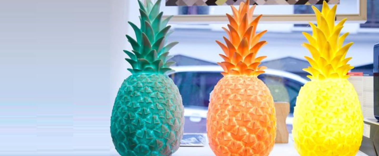 Copy of lampe ananas pina colada jaune h32cm goodnight light normal