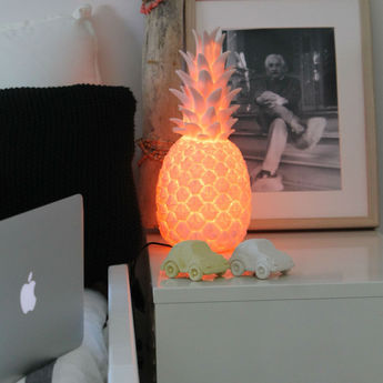 Copy of lampe ananas pina colada rose pastel h32cm goodnight light normal