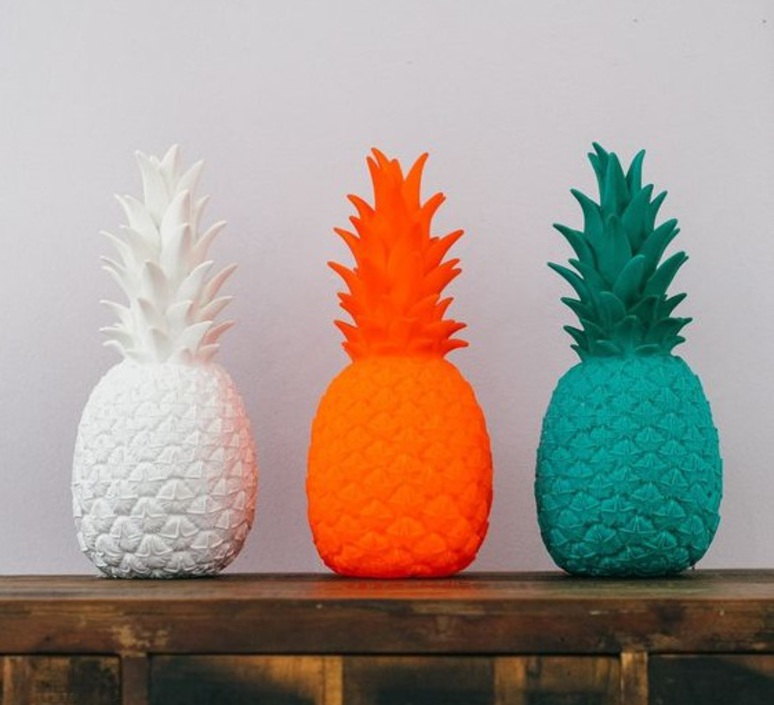 Ananas pina colada eva newton goodnight light pina colada rouge fluo luminaire lighting design signed 60514 product