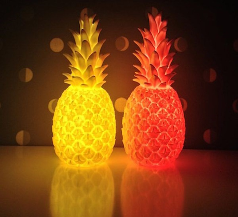 Ananas pina colada eva newton goodnight light pina colada rouge fluo luminaire lighting design signed 60515 product