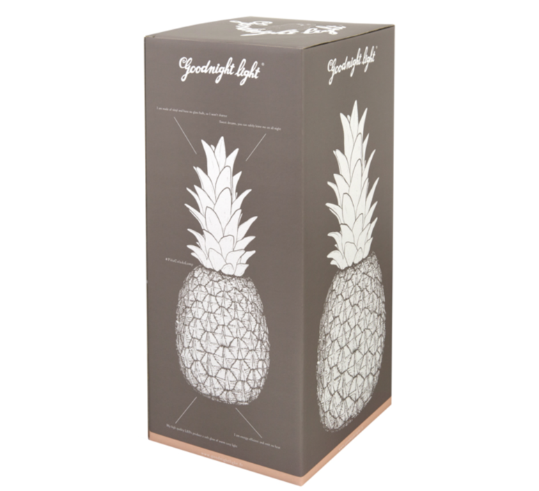 Ananas pina colada eva newton goodnight light pina colada rouge fluo luminaire lighting design signed 60518 product