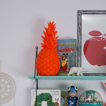 Copy of lampe ananas pina colada rouge fluo h32cm goodnight light normal
