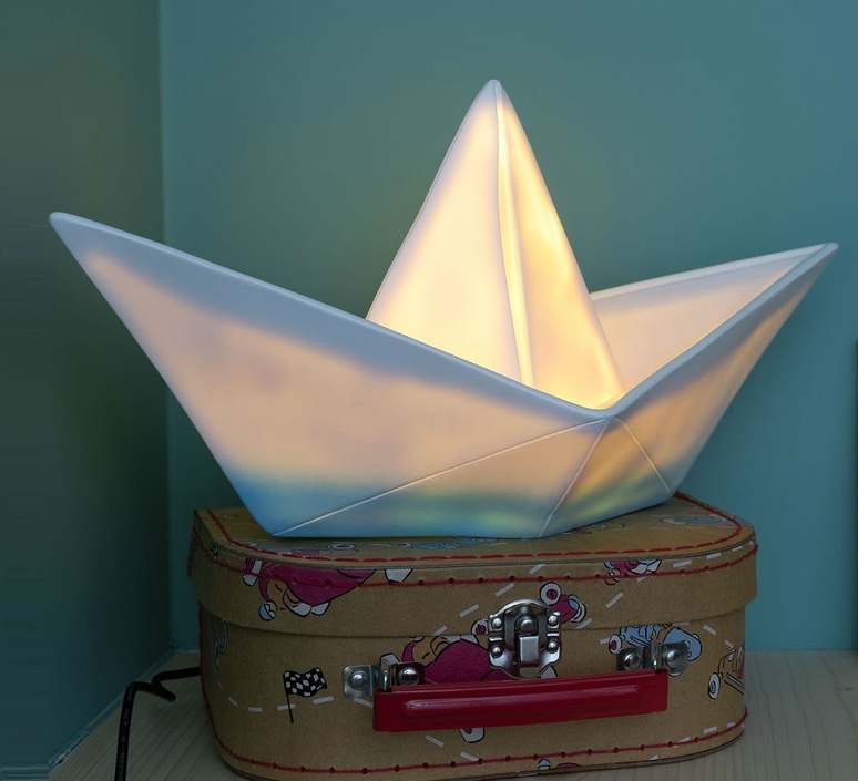 Bateau lorena canals goodnight light paperboat bleu luminaire lighting design signed 60602 product
