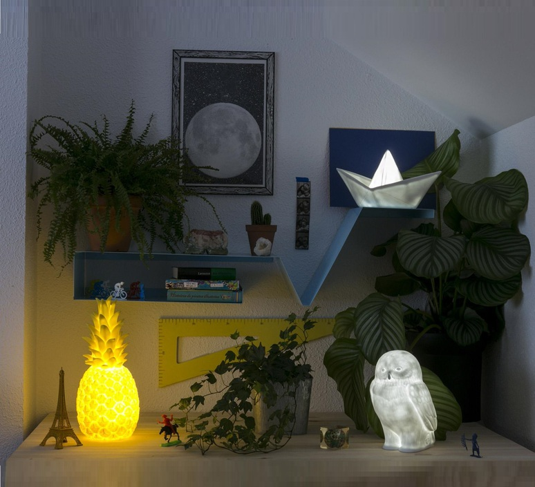 Bateau lorena canals goodnight light paperboat bleu luminaire lighting design signed 60605 product
