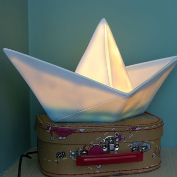 Copy of lampe enfant veilleuse bateau blanc bleu l32cm goodnight light normal