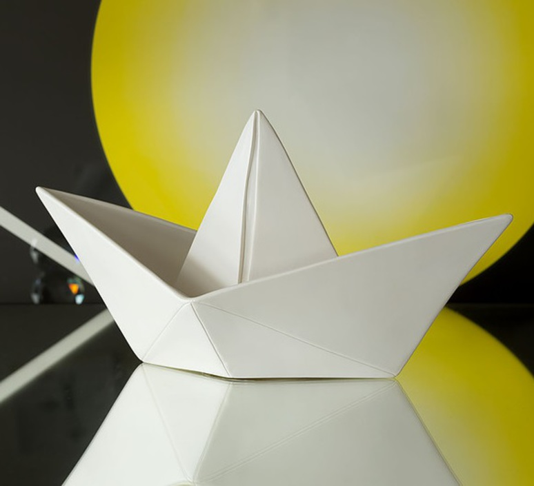 Bateau lorena canals goodnight light paperboat blanc luminaire lighting design signed 60577 product