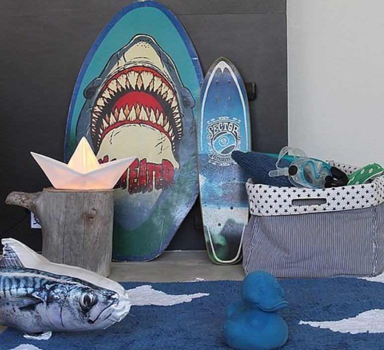 Bateau lorena canals goodnight light paperboat blanc luminaire lighting design signed 60581 product